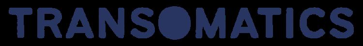blue text saying ' transomatics'